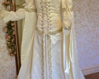 Lily Gown from Legend movie Medieval Fantasy Wedding Gown or Costume Custom Size and Color