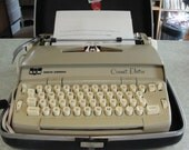 1970s Smith Corona portable typewriter in hard case