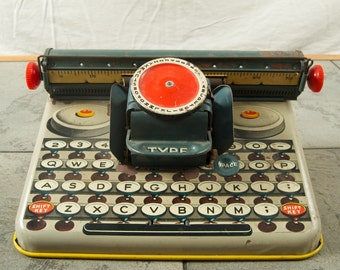 Vintage Tin Toy Typewriter by Dependable FC