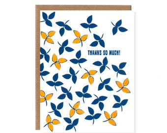 Thanks So Much -- Falling Leaves Thank You Card