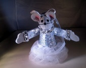 Felt Mouse dressed as a Ballerina