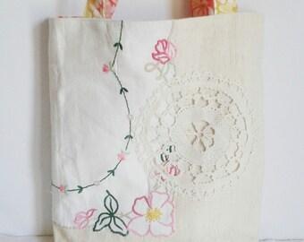 Shoulder Bag antique hemp vintage embroidery