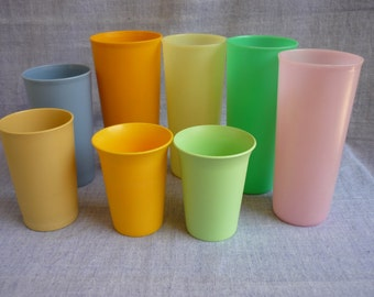 tupperware tumblers 8 various size tumblers various colors tupperware collection plastic drink