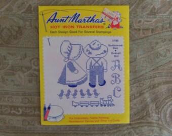 Vintage  1940's Aunt Martha's Transfers,#3795 Unused,