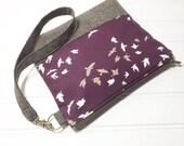 Essex linen bottom pouch with optional wrist strap