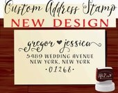 Calligraphy Handwriting Script Custom Return Address Stamp - Personalized SELF INKING Wedding Stationery Stamper - Style 1147