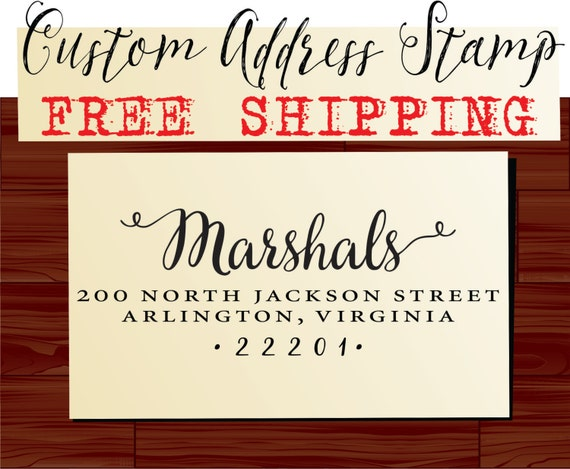 Address Stamping Calligraphy Return Address Stamp Custom
