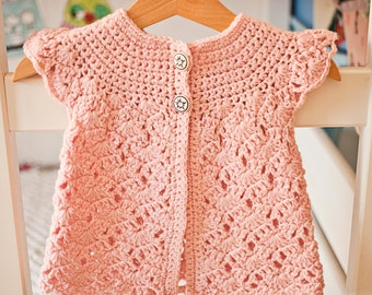 Crochet PATTERN - Zara's Sleeveless Cardigan (sizes toddler up to 10 years)