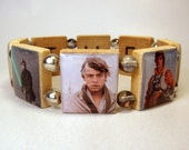 SKYWALKER - THE FORCE Bracelet / Star Wars Jewelry / Luke / Upcycled Scrabble Art / Unusual Gifts