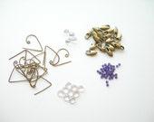 Brass ear wires amethyst pamelasjewelry