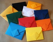 Origami Envelopes, bright party favors. Flash Drive Holders. Wedding Party Gifts. Wedding Party Favors. Set of 10. In stock.
