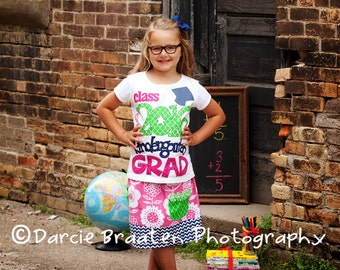 Kindergarten Grad Shirt with Optional Skirt, Perfect for the Last Day of School, Graduation, Last Day of School, First Day of School