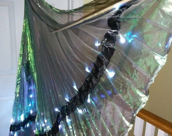 Mermaid Iridescent LED Dance wings