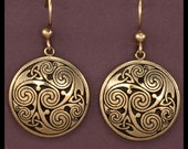CELTIC SPIRALS and KNOTS- Earrings- Bronze