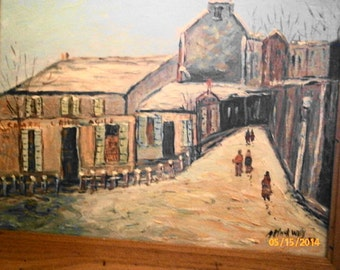 SOUTHWESTERN STREET SCENE Signed & Dated