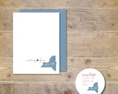 State Note Cards, State Stationery, Map, Personalized Note Cards, Stationery, Stationary, State Cards, Thank You Cards, Thank You Notes