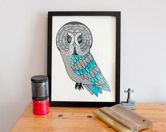 Great Gray Owl Screen Print