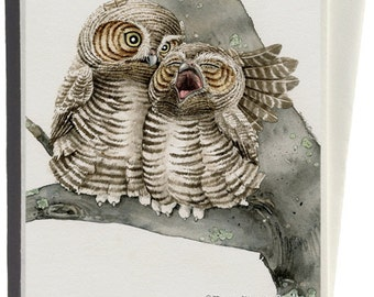Good Night Owls Greeting Card by Tracy Lizotte
