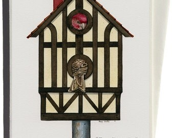 Tudor Living Greeting Card by Tracy Lizotte