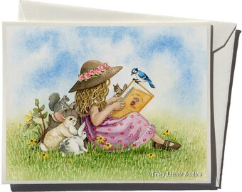 Reading Greeting Card by Tracy Lizotte