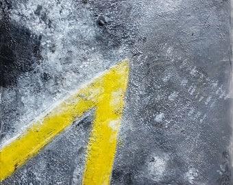 Journey:Road and Salt II, original encaustic painting