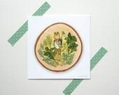 Fox Naturalist - Mini Fine Art Print