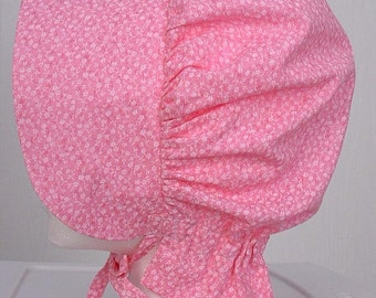 Girls Woman's  Pioneer Days Clothing Colonial Sun Bonnet Pink Pioneer Trek Clothing -  Ready to Ship
