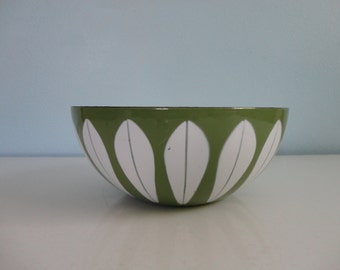 VINTAGE CATHRINEHOLM green and white lotus BOWL