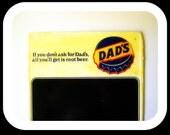 Vintage Dad's Root Beer Sign Metal Indoor Advertisement Original Restaurant Menu Board