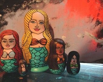 Mermaid Nesting Dolls