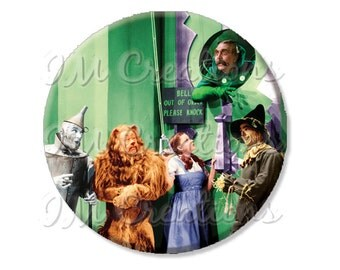 "Pocket Mirror, Magnet or Pinback Button - Wedding Favors, Party themes - 2.25""- Wizard of Oz Emerald City MR414"
