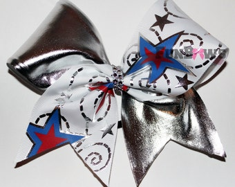 Beautiful Patriotic Themed Cheerleading Bow by FunBows !