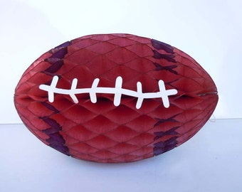Vintage 1960's Football Party Decoration Table Centerpiece Honeycomb Party Decoration Denmark Sports