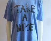 OOAK Take a Hike Tee Blue
