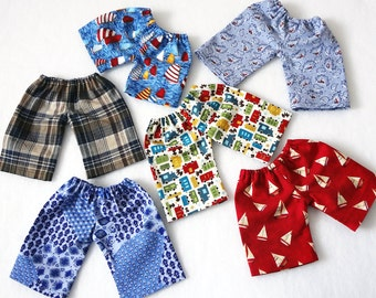 10 13 15 inch Waldorf doll pants, 18 inch girl or boy doll pants, 15 inch bitty babies, twin doll, american style, waldorf doll clothes gift