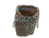 Crochet Cotton Reusable Grocery Bag, Beach Bag, Net Bag