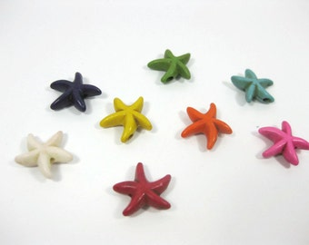 13mm Howlite Starfish Beads Set of 8