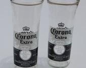 Set of two Corona Extra Beer Bottle Glasses