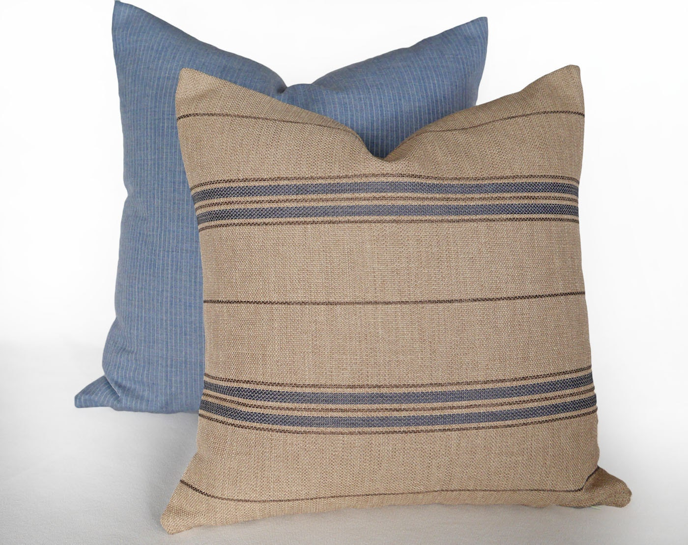 French Country Pillows Natural Striped Pillow By