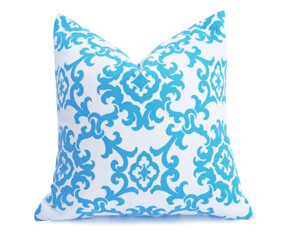 Modern Blue White Pillows Trendy Pillow Covers Blue