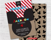 INSTANT DOWNLOAD Editable Personalized Disney Junior Mickey Mouse Clubhouse Invitation