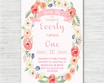 Instant Download - Editable - Personalized - Baby Shower - Bridal Shower - Birthday Party - Floral - Garden Invitation