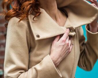 Architects coat • women's Pure Camel Hair coat • urban modern coat