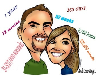 Custom Caricature from Photo, Personalized Caricature Portrait, Valentines Day Card, Gift Caricature, Wedding Caricature, Digital Caricature