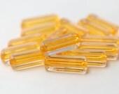 Crystal Orange Rounded Acrylic Rectangle Tube Beads 24mm (16)