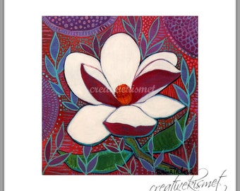 SALE - White Gardenia - Flower 8 X 8 Art Print