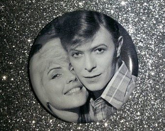 Prom King & Queen Let's Dance Atomic Debbie Harry David Bowie 1.25 button pin badge