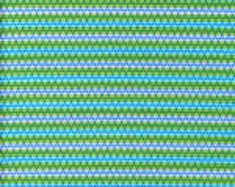 Rare Carla Miller for Rowan Fabrics a Division of Westminster CM-33 Star Flower Stripe Blue