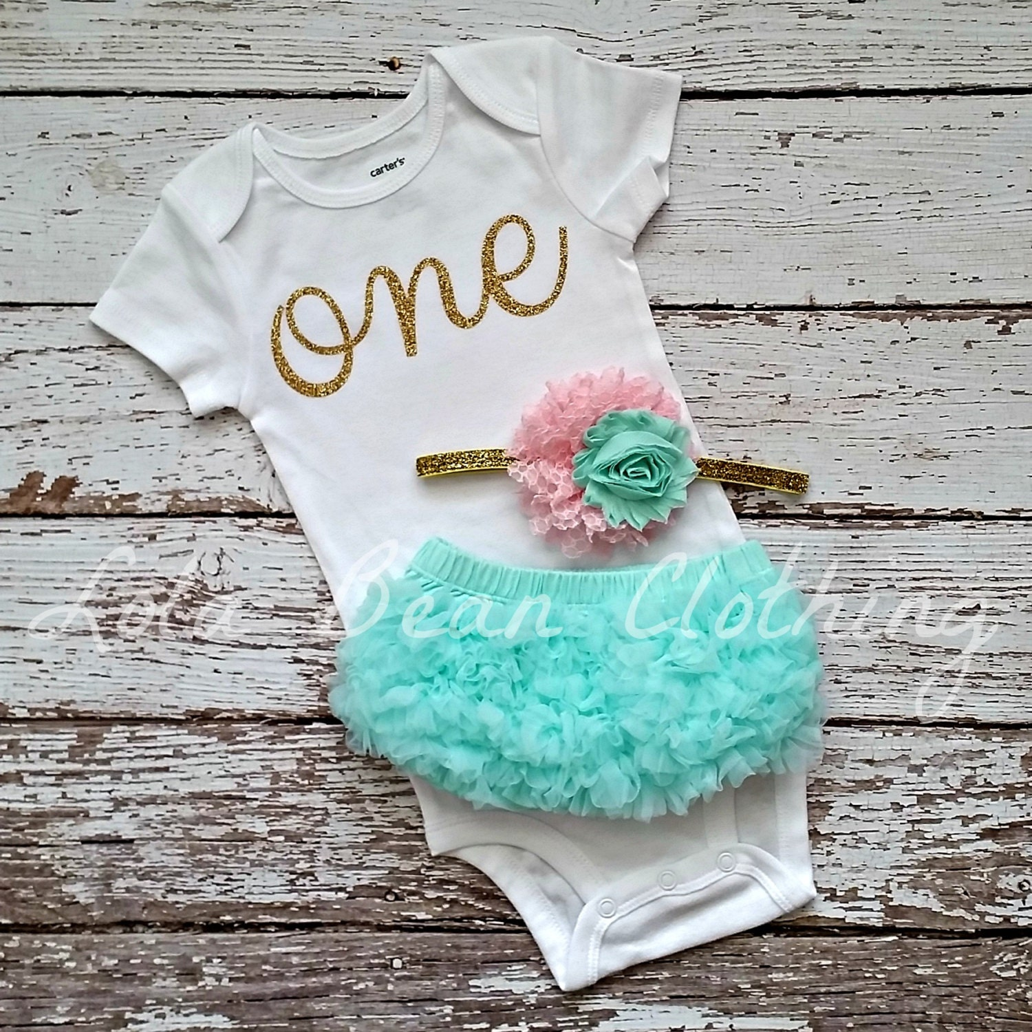 Baby Girl Baby Girl 1st Birthday Outfit Cake By