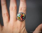 Millefiori Mosaic Ring - Wearable Art